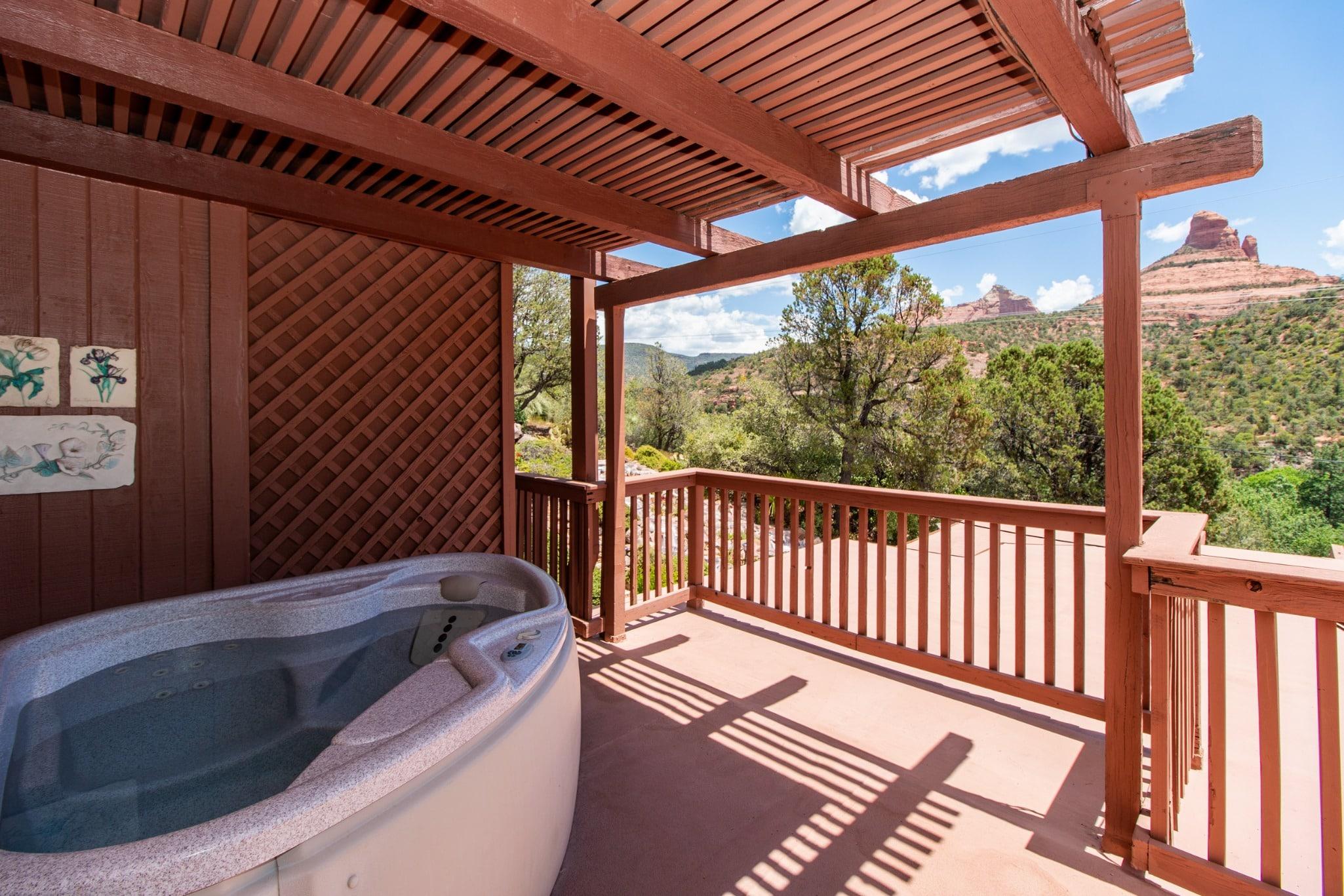 sedona, sedona bed and breakfast, sedona hotel with hot tub